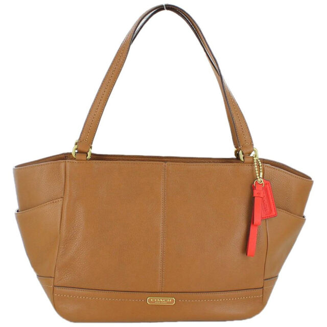 98d77a03e7 NWT COACH F23284 Tote Bag Smooth Park Leather Carryall British Tan Handbag  Purse