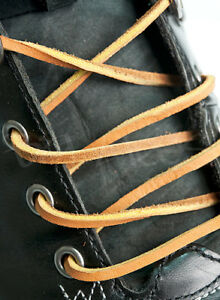 GENUINE-LEATHER-LIGHT-BROWN-SHOE-BOOT-LACES-182cm-x-3mm