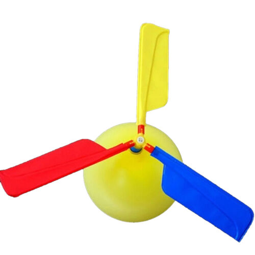 1Pc Classic Balloon Airplane Helicopter For Kids Children Flying Toy Gift H/%^