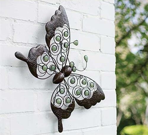 Metallo Farfalla Ornamentali da Giardino Wirework Wall Art Scultura