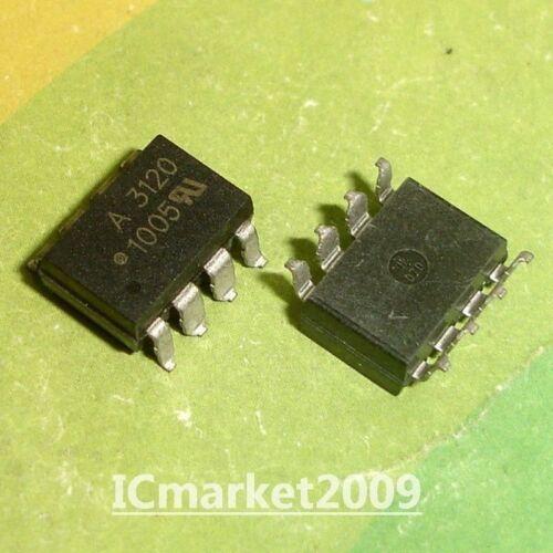 10 PCS HCPL-3120 SMD-8 HCPL3120 A3120 2.0 Amp IGBT Gate Drive Optocoupler