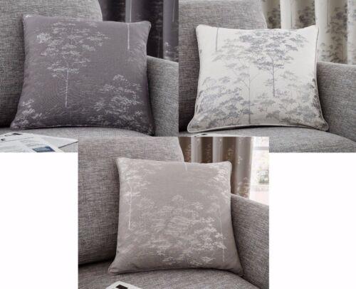"Tejido De Lujo Elmwood Cushion Covers De Lujo En 3 Colores Moderna 17/""x17/"""