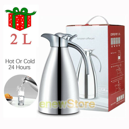 68Oz 24H Thermal Carafe Vacuum Insulated Jug Stainless Steel Double Walled Pot