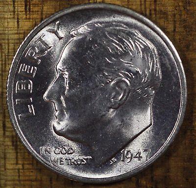 1947-S BU Silver Roosevelt Dime Roll