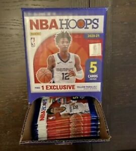 2020-21 NBA Hoops Basketball Gravity Box!! 43 Sealed Packs 5 Cards Per Pack