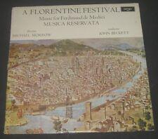 Florentine Festival  MORROW / BECKETT Musica Reservata ARGO ZRG-602 lp EX