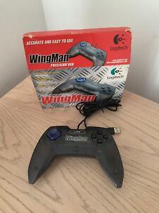 Logitech-Wingman-Precision-USB-Wired-Controller-Gamepad-para-PC-en-caja-en-muy-buena-condicion-E
