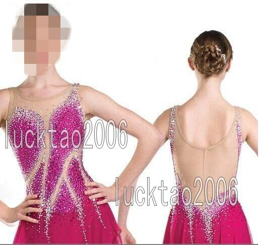 2018 new style  Figure Skating Ice Skating Competition Dress Kid Adult 8881  retail stores