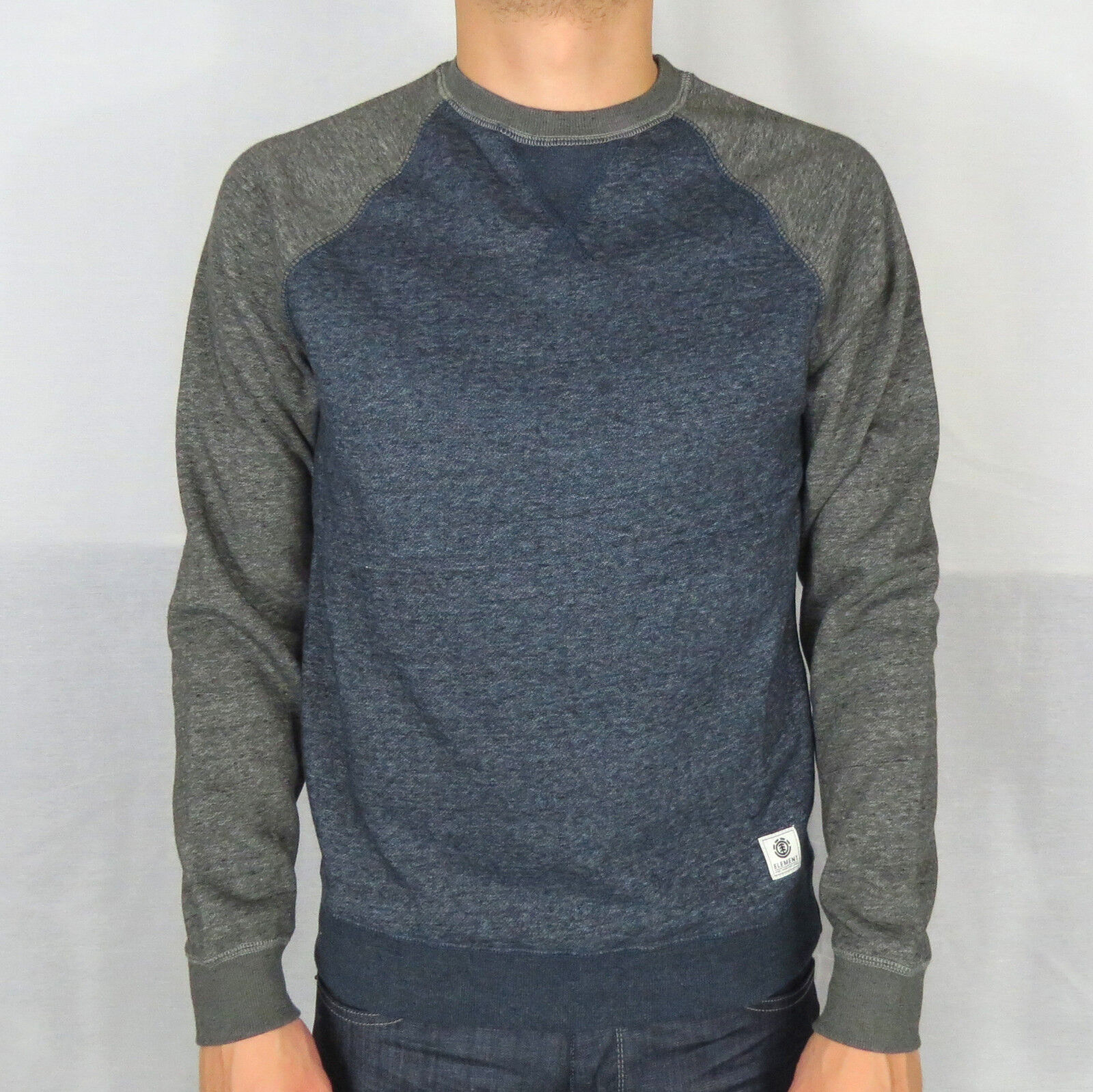 ELEMENT Meridian Block Sweatshirt Sweater Pulli indigo F1CRB2-ELF7-0120
