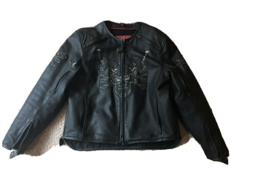 First Racing  Brand leather motorcycle jacket larg
