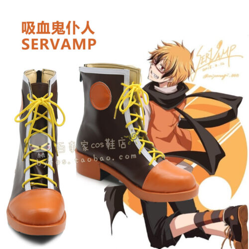 Details about  /NEW Japanese Comic SERVAMP lawless Cos Boots Cosplay Costume Shoes