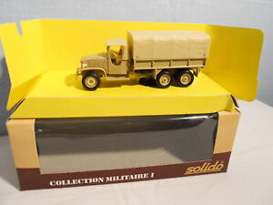 SOLIDO-MILITAIRE-GMC-BACHE-SABLE-PROMOTIONNEL-MARCHE-HOLLANDAIS-RARE-MINT-BOX