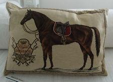 "REITEN PFERDEKISSEN /""Saddle Club/"" Bw.Gobelin 45x31 SOFAKISSEN PFERD mars/&more"