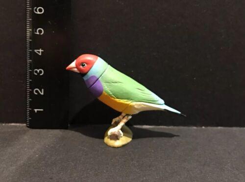 Kaiyodo Furuta Choco Q Pet Animal 2 Gouldian Finch Bird Figure A
