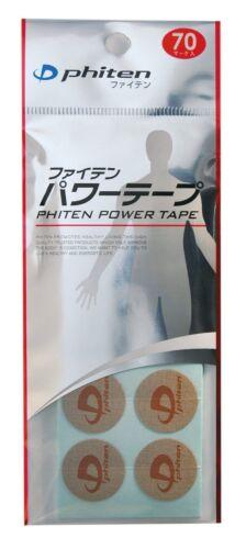 New Phiten Titanium Power Tape Patche 70 pcs Japan