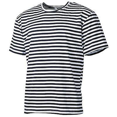 Russisches Marine Rundhals T-Shirt blau-weiss gestreift S-XXXL Matrosen Shirt