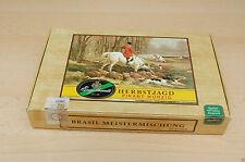 Alte Zigarrenkiste aus Pappe Schatulle mit Steuermarke Engelhardt Herbstjagd