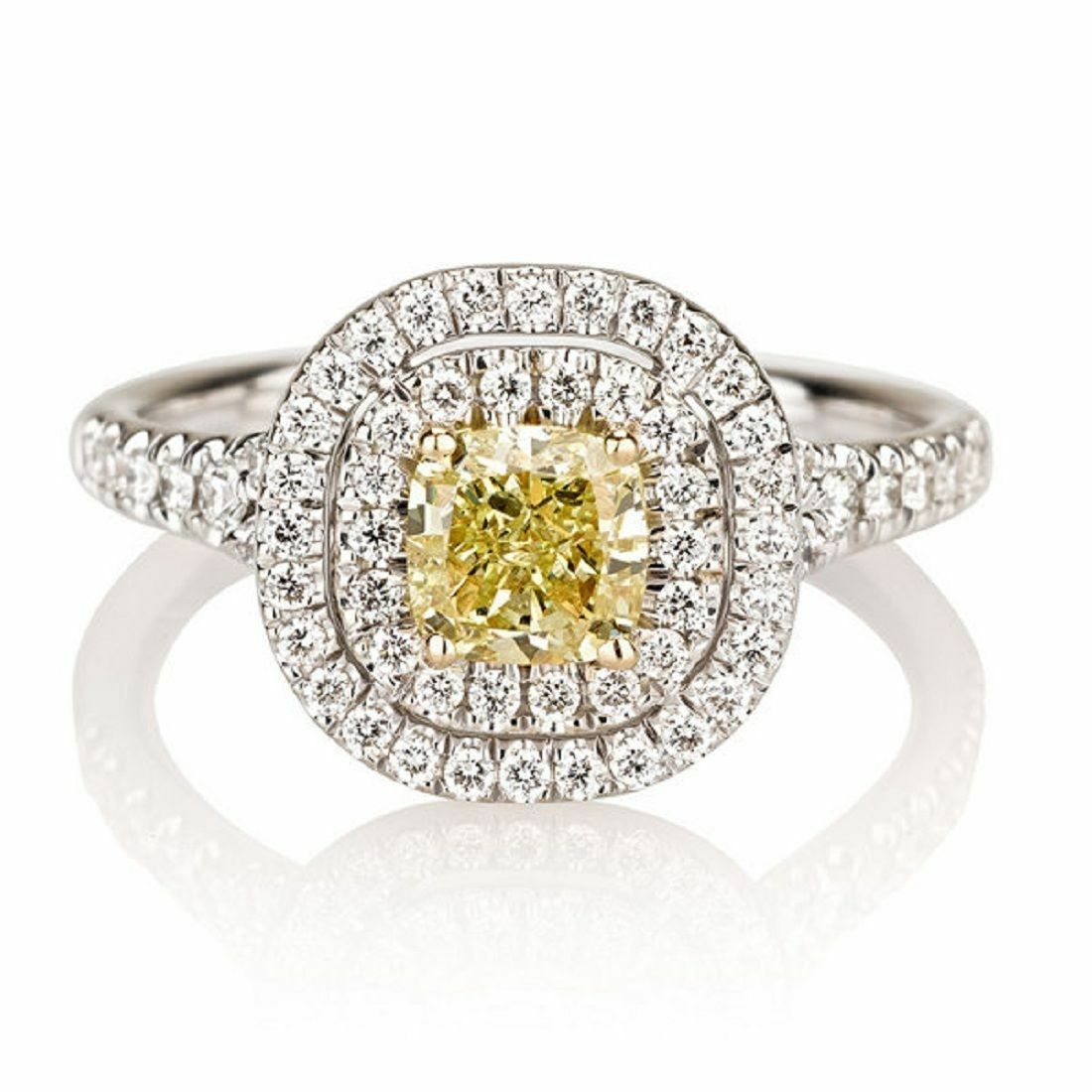 Intelligent 7mm Platinum Plated Silver 1.5ct Cz Half Bezel Wedding Engagement Ring Size8 Jewelry & Watches Rings
