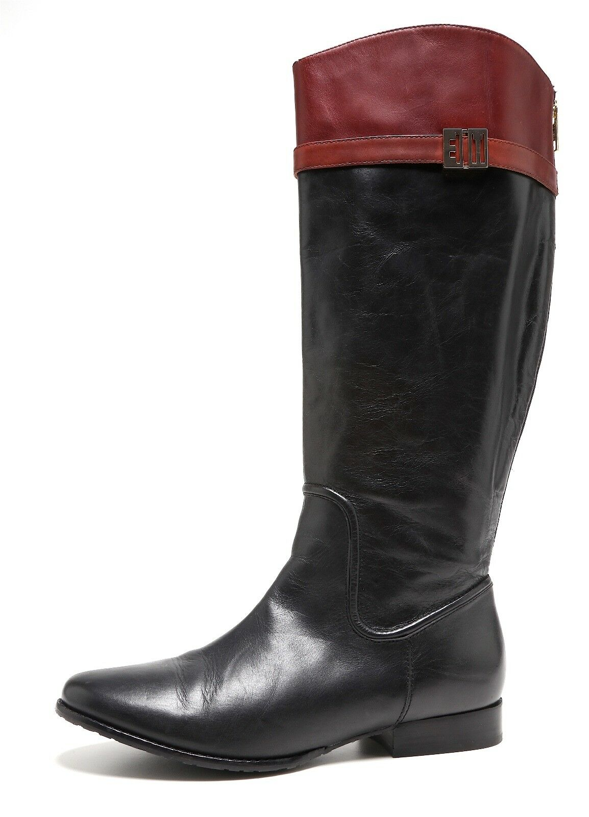 Elaine Turner Trey Leather Riding Boots Black Women Sz 9 7918