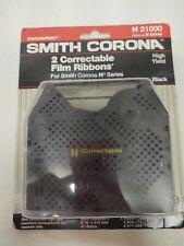 2 Pcpack New Genuine Smith Corona H Series 21000 Correctable Typewriter Ribbons