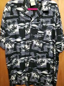 PURITAN-Mens-Size-MEDIUM-38-40-Aloha-Hawaiian-Hula-Girl-Print-Short-Sleeve-Shirt