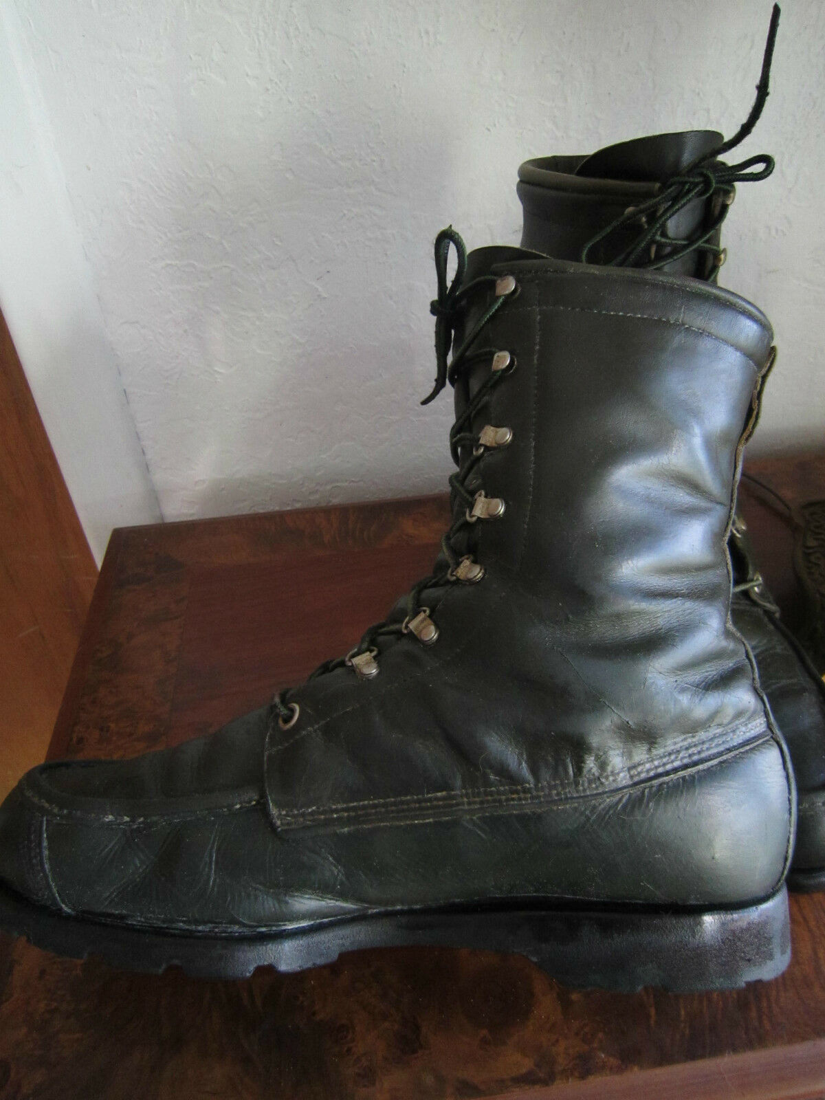 True Vintage Vintage Vintage TED WILLIAMS Dark Olive Green Hunting Boots - size Men's 10 D 0cb6a2