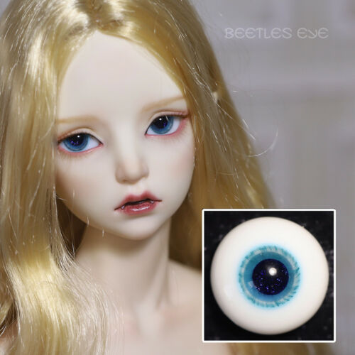 H-48 BLUE NO STEM  BJD Doll Glass Eyes 14MM;16MM;  SOOM DOLLZONE LUTS IMDA