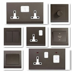 simplicity screwless charcoal stylish light switches plug sockets image is loading simplicity screwless charcoal stylish light switches plug sockets