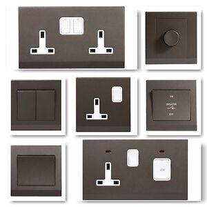 simplicity screwless charcoal stylish light switches plug sockets rh ebay co uk Vehicle Fuse Box Breaker Box