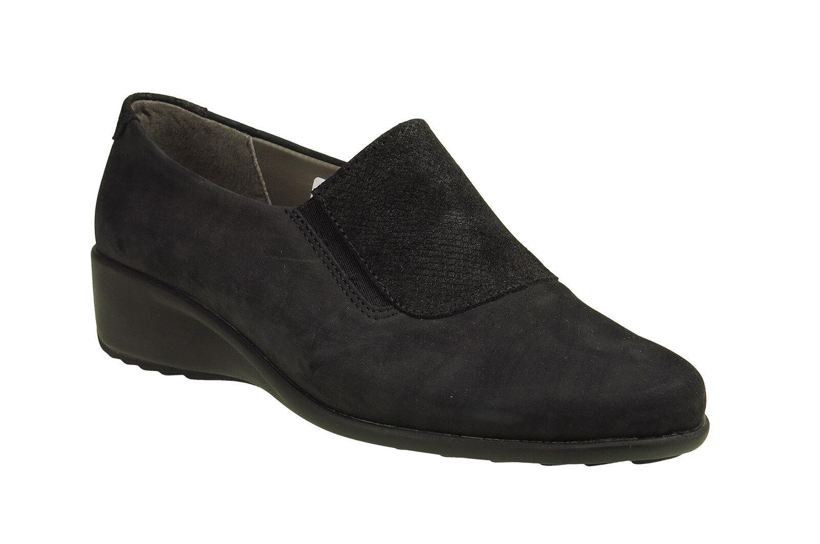 Comfortabel Damen Slipper schwarz (942125 1) H-Weite