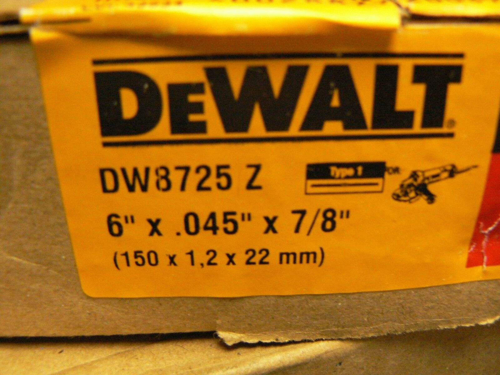 """DeWalt DW8062 4-1//2/"""" x .045 x 7//8/"""" Metal Thin Cut-Off Wheels 150"""