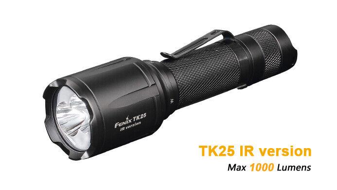 Fenix TK25IR  Weiß + Infrarot LED Cree XP-G2 S3 1000Lumen Taschenlampe NEU  | Diversified In Packaging