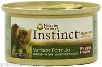 Instinct Grain-free Venison Formula Canned Cat Food By Nature's Variety, 24/3oz