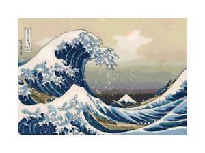 Great-Wave-at-Kanagawa-Fine-Art-DIGITAL-Counted-Cross-Stitch-Pattern-Needlepoint