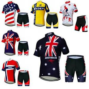 2019-Men-039-s-Cycling-Team-Kit-Short-Sleeve-Cycling-Jersey-and-Shorts-Set-S-5XL