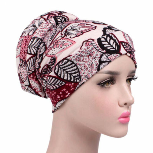 Frauen Baumwolle Floral Bedruckt Skullies Mützen Hut Schlaf Caps Turban Chemo