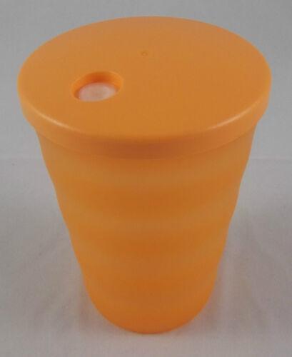 Tupperware J 37 jóvenes ola recipientes para bebidas vaso con tapa 330 ml Orange nuevo