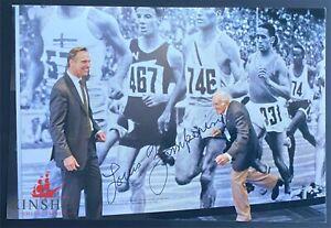 Louis Zamperini signed color photo JSA COA Unbroken d.2014 Olympic Runner B622