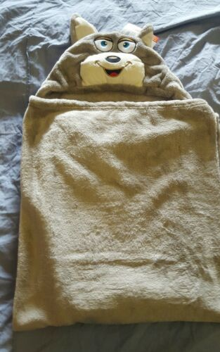 Khaki Baby Pucken Decke Fleece mit Kapuze Weiches Plüsch Toll Gift Nwt ~ Global