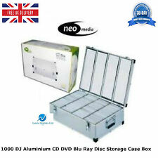 1000 IN ALLUMINIO DJ CD DVD BLU RAY DISC Archiviazione Custodia Box Numerato Maniche HQ