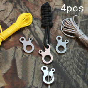 4-Stainless-Steel-Paracord-Quick-Tie-Adjusters-Bushcraft-Survival-Camping-HD3
