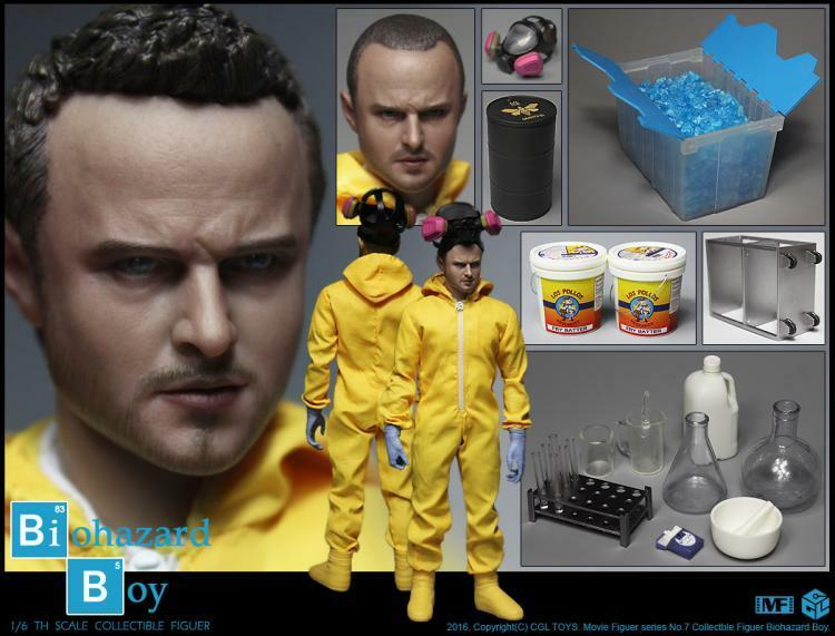 CGLTOYS MF07 Breaking Bad Jesse Aaron Paul Chemistry lab Deluxe Edition Figures