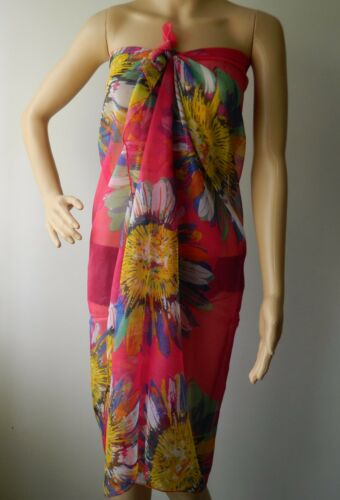 LADIES SARONG WITH LARGE SUNFLOWER PRINT