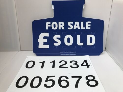 Car//Auto Pricing For Sale X 5 Sun Visor sets Complete with number Sheets