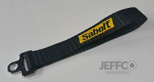 Sabelt Racing Black Tailgate Pull Strap CCAC0045 Boot Door Fiat 500 Abarth