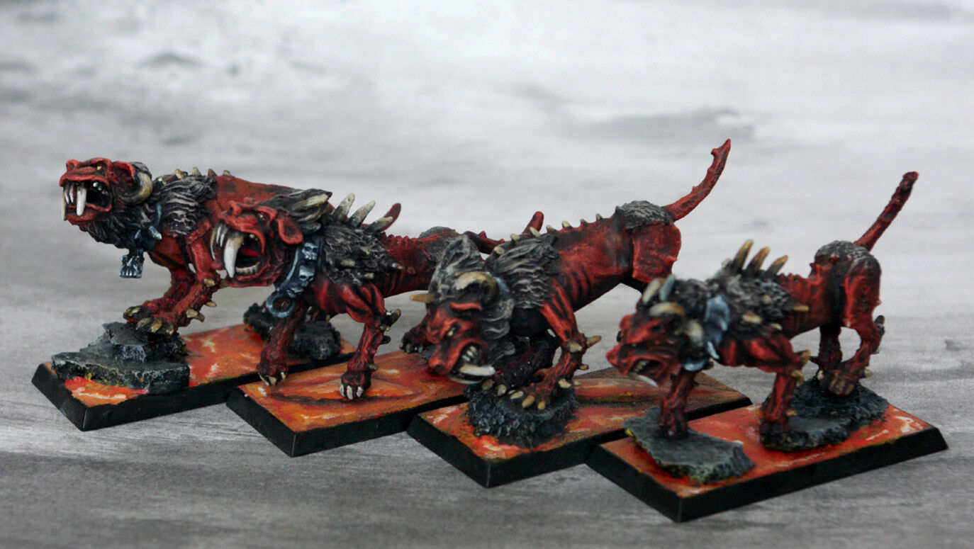 Chaos Chaos Chaos Warhounds Pro Painted   oldhammer wfb warhammer 8b1279
