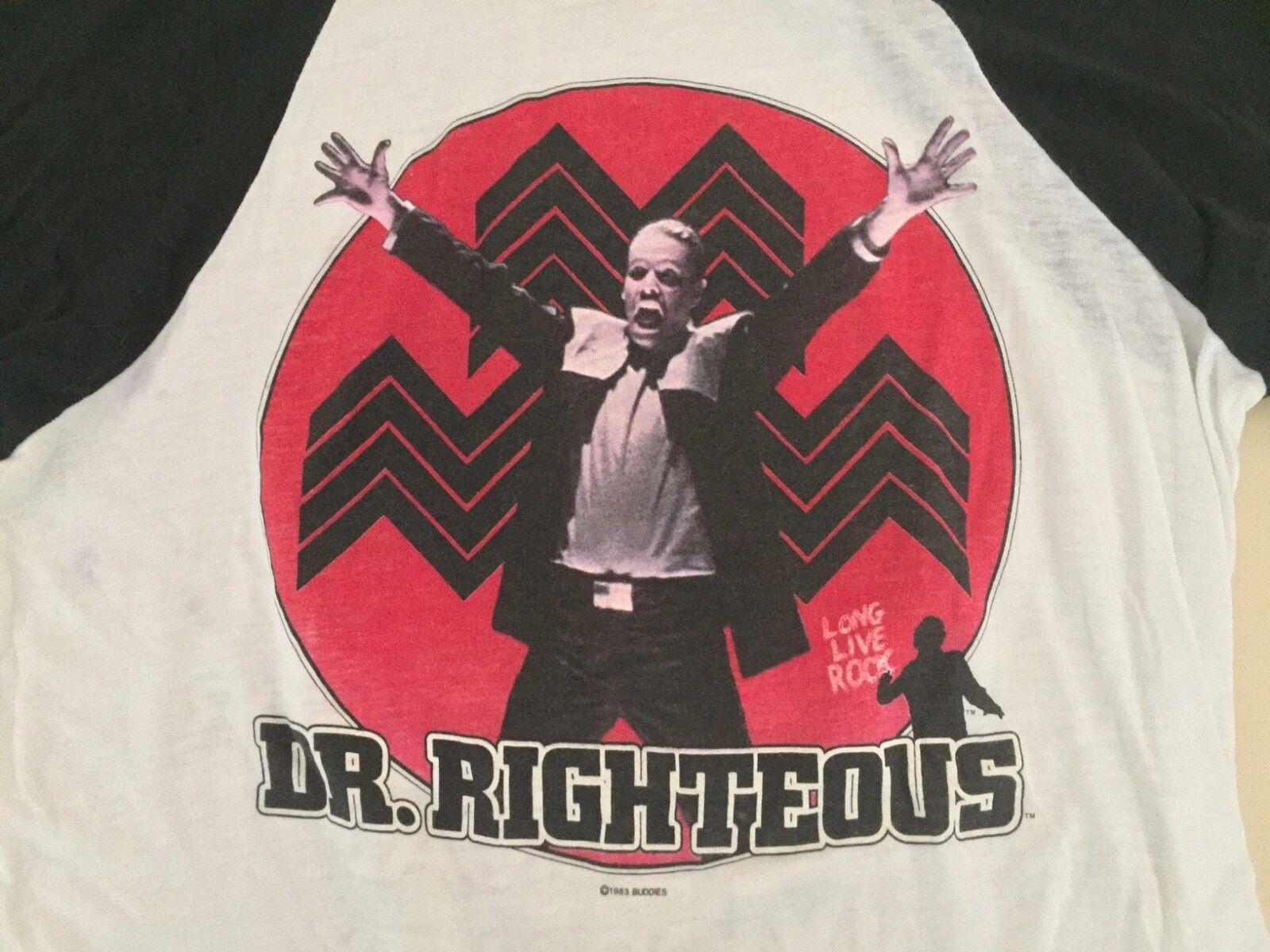 Styx Dr. Righteous 1983 Raglan Shirt Kilroy was Here L Large Heavy Metal