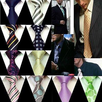 New Neck tie Mens Ties 100% Silk Groom Wedding Party Handmade Necktie FS1-27