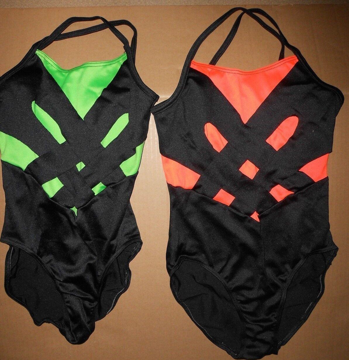 NEW CAPEZIO cutout lattice back camisole leotard 11031W black Ladies sizes