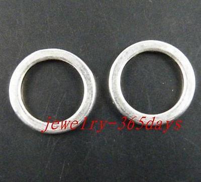 100pcs Tibetan Silver Smooth Ring Connectors 15x1.5mm ZN2042